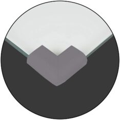 Safe Baby & Child safety edge corner cushion guard. - Furniture Babyproofing Protectors . Toddlers Suited Adhesive - Grey