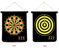 "Magnetic Dart Board Set Double Sided 17 "" inches Foldable With 6 Magnet Dart Needles"