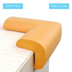 Safe Baby & Child safety edge corner cushion guard. - Furniture Babyproofing Protectors . Toddlers Suited Adhesive - Yellow