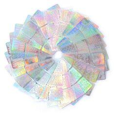 Nail Art Self-Adhesive Stencil Stickers  Waterproof Salon Nail Stamping Printing Image Stamps Set-24 Sheets