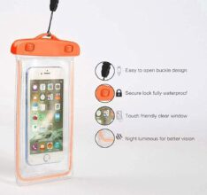 RADIUM ILLUMINATED Cover for Mobile Phone Waterproof Sealed Transparent Dry  Bag , Photography with Underwater Pouch Phone Case for iPhone/Samsung/HTC (Multicolour)